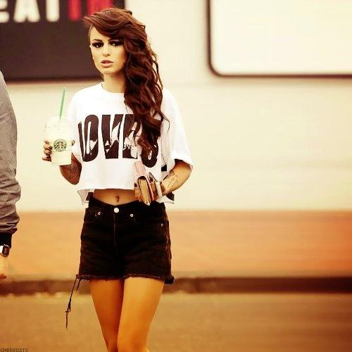 Cher Lloyd.. Want the hair & love her voice.