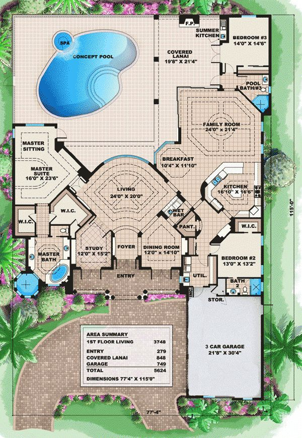 Best 25 mediterranean house plans ideas on pinterest for Florida blueprint