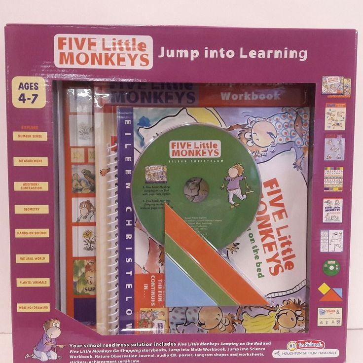 Five Little Monkeys Jump into Learning Educational Activity Set by Houghton Mifflin Harcourt - Ages 4 to 7. Your young learner can explore numbers, measurements, addition/subtraction, geometry, science, nature and writing.   eBay!