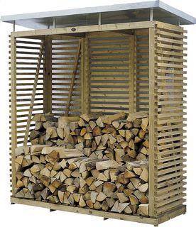 Hillhout abri à bûches pour bois de chauffage avec toit