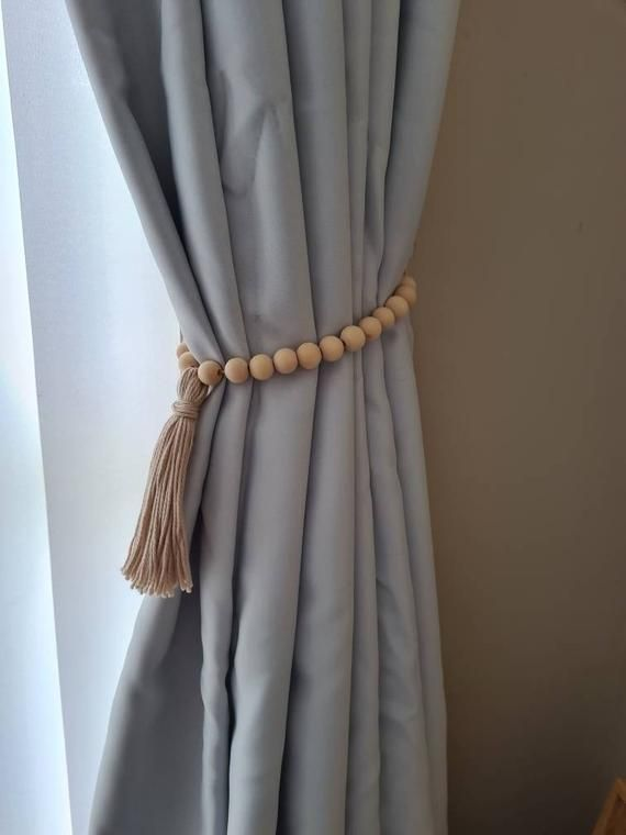 Diy Boho Curtain Tie Backs With Tassels Boho Curtains