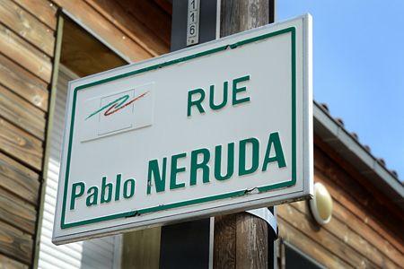 calle Pablo Neruda. Cournon-d'Auvergne. Francia