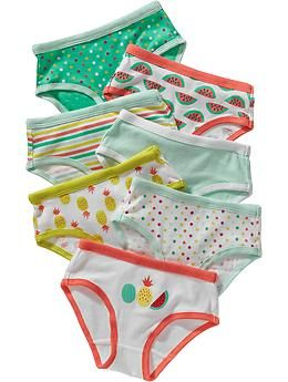 Patterned Underwear 7-Packs for Baby