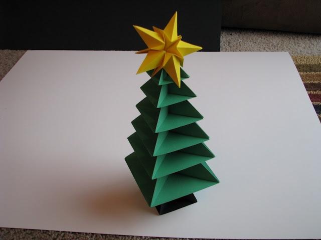 Origami sapin de noel avec Tuto