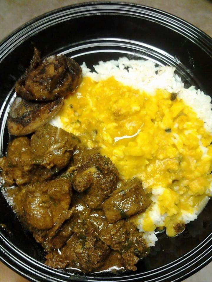Dhal Rice Curry Duck Amp Mango In 2019 Caribbean Recipes Trinidad Recipes Guyanese Recipes