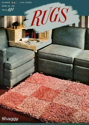 Rugs circular, rectangular, motifs Vintage Crochet Patterns Book for download