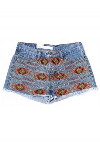 Aztec Embroidery Cutoff Denim Shorts- so cute #Chicwish