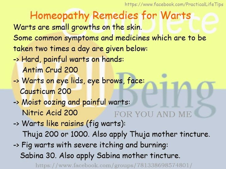 Practical Life Tips For You And Me: #Homeopathy #Remedies for #Warts