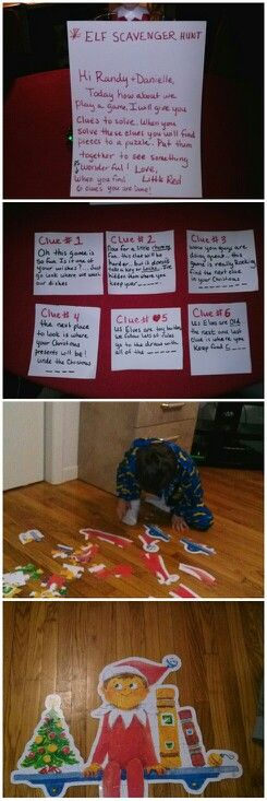 Puzzle Pieces Scavenger Hunts And Elf On The Shelf On