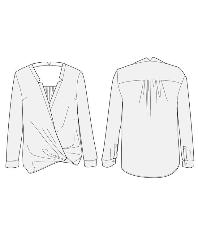 Blouse Helsinki - patron de couture pour femmes | Orageuse