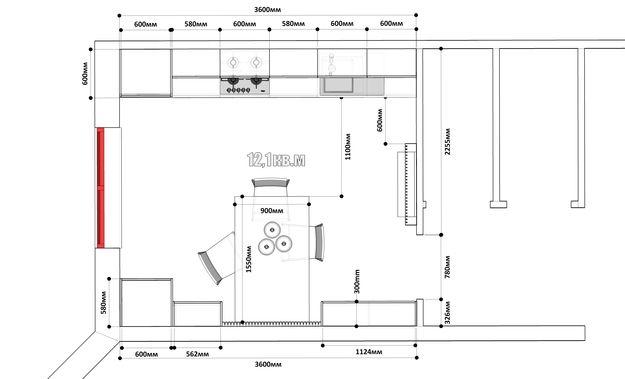 Фотография:  в стиле , Кухня и столовая, Кантри, Современный, Планировки…