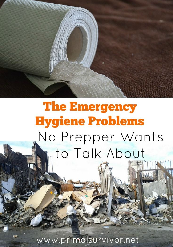 The Emergency Hygiene Problems No Prepper Wants to Talk About. n every single disaster situation – from hurricanes to grid outages to warfare – one thing is almost always certain: hygiene disasters. Here, I want to discuss the 5 main emergency hygiene issues which will likely arise after a disaster and how to prepare for them.