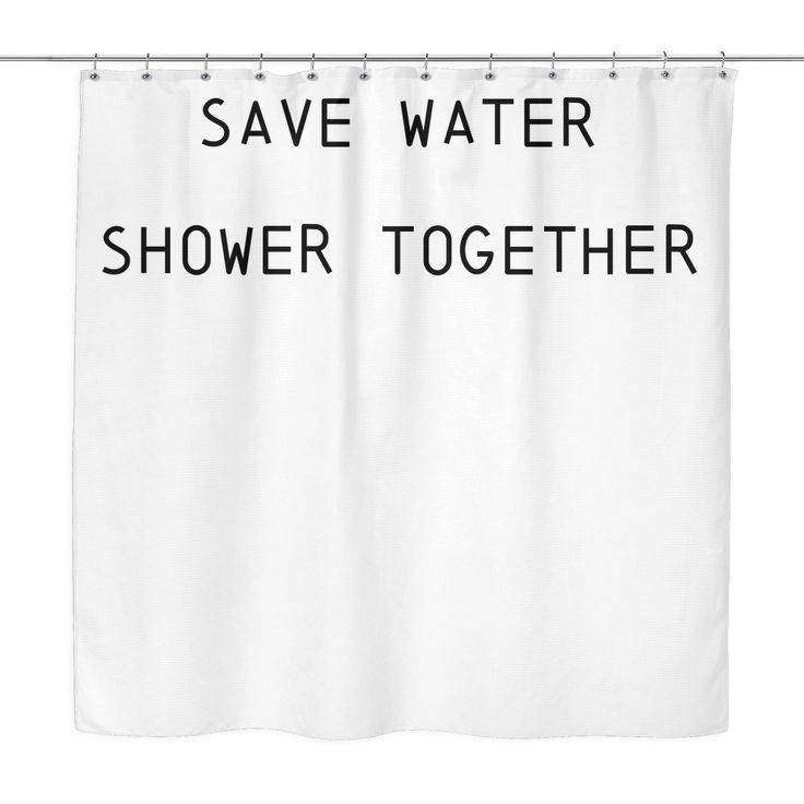 Save water shower together shower curtain funny shower for Shower curtain savers