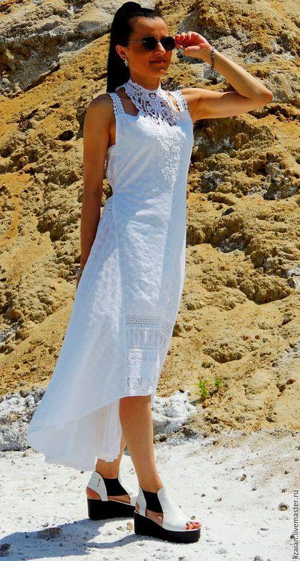 сарафан летний, летний сарафан, платье макси, платье бохо, купить бохо, стиль бохо, сарафан с кружевом, сарафан из шитья, шитье хлопковое, бохо свадьба, сарафан пляжный