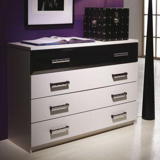 Commode 4 tiroirs bois L119 x H84 cm ESCAPE port offert
