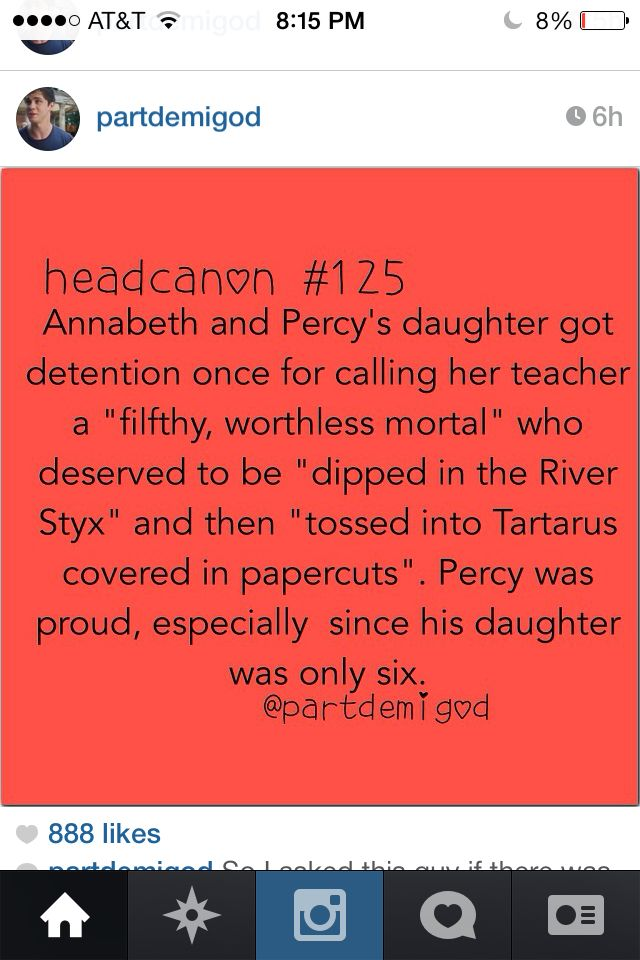 I seriously just love the ones where they talk about percabeth having babies!!