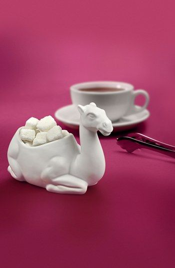 Porcelain Camel Sugar Bowl