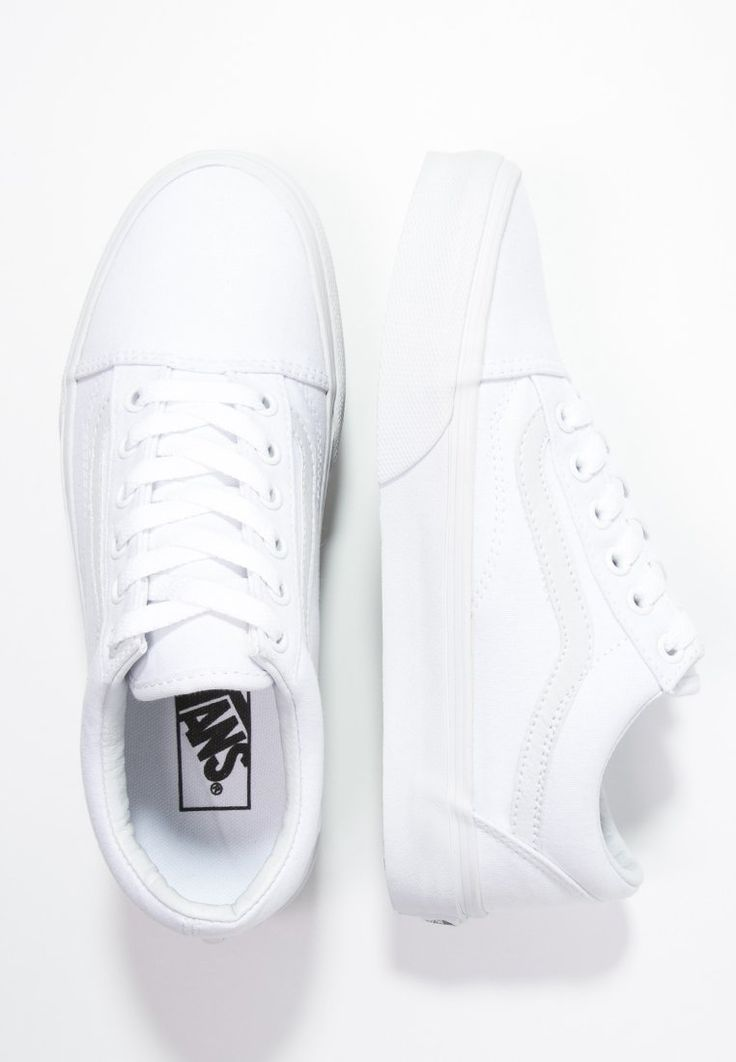 Dames Vans OLD SKOOL - Sneakers laag - true white wit: 54,95 € in maat 40,5