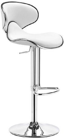 Amazon.com - Zuo Modern Fly Barstool, White - Barstools With Backs