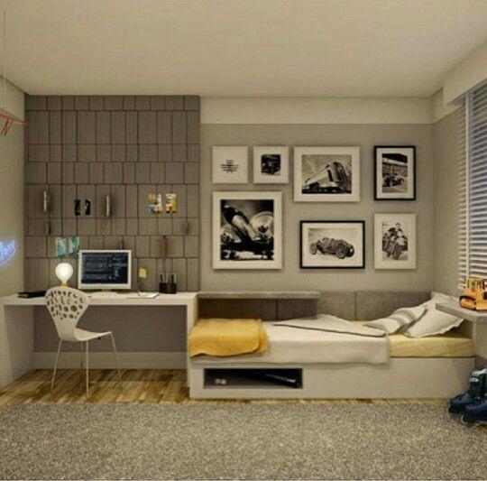 Projetos modernos de quartos para jovens                              …