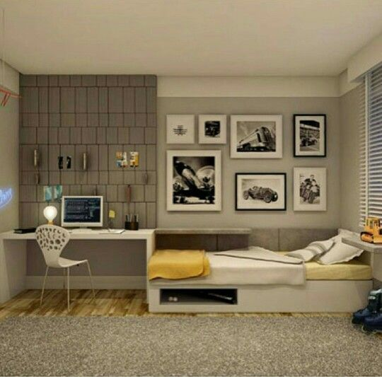 Projetos modernos de quartos para jovens