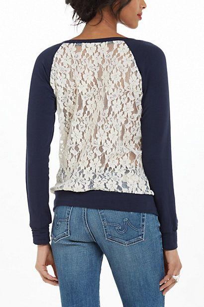 Astern Lace Sweatshirt #anthropologie