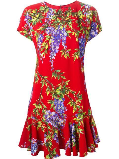 Dolce & Gabbana Vestido Evasê De Seda - Boutique Mantovani - Farfetch.com                                                                                                                                                     Mais