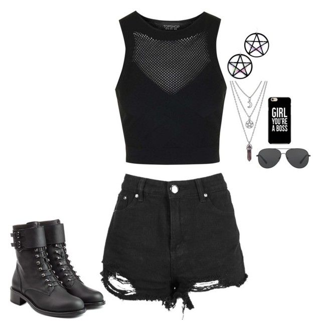 """""""Unbenannt #4187"""" by hitthisfeeling ❤ liked on Polyvore featuring Topshop, Boohoo, Marina Fini, Philosophy di Lorenzo Serafini and Michael Kors"""