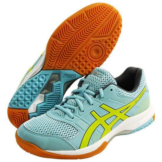 ASICS Gel Rocket 8 Badminton Shoes Orange Yellow and Silver
