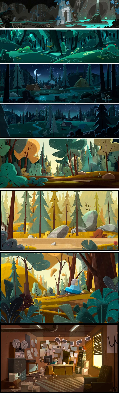 """Jamie's Got Tentacles"" by Samka Productions Gael BECU (background paintings) Thomas GREFFARD (Backgrounds design)"