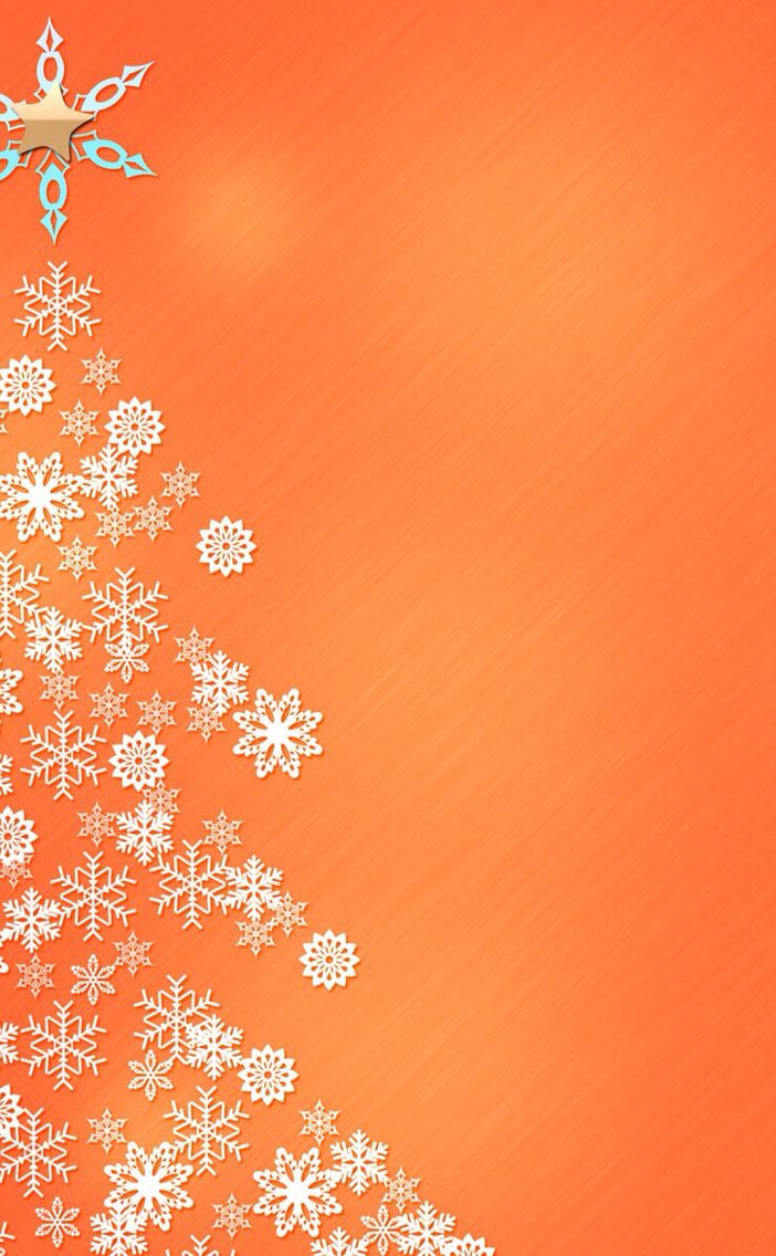 New Wallpaper iPhone Christmas tree orange 4