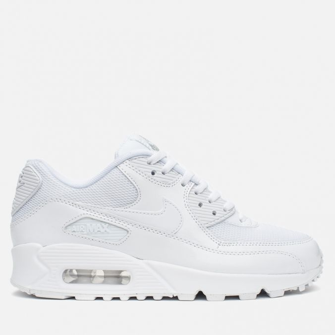 Кроссовки женские Nike Air Max 90 Premium White/Metallic Silver