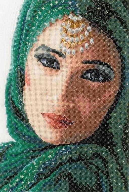 Eastern Beauty Cross Stitch Kit £46.00 | Past Impressions | Lanarte