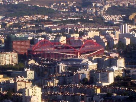 Benfica Stadium from the plane.  ©JM Kochan Figueiras