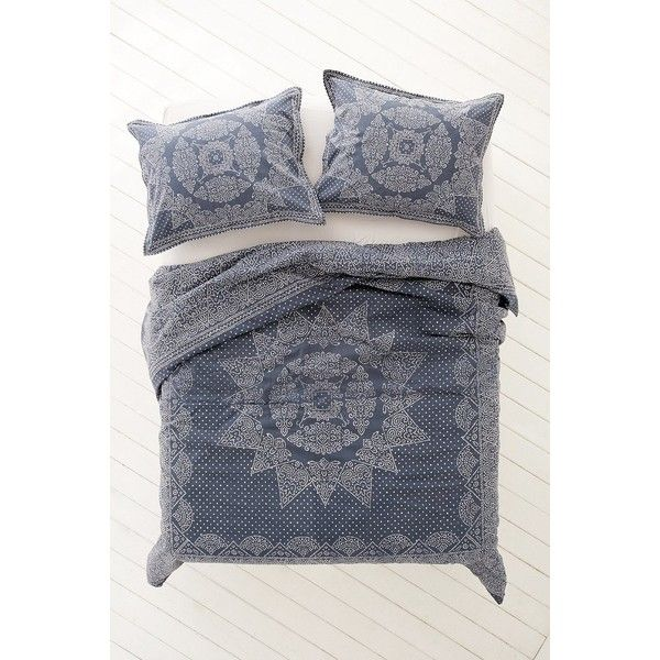 Magical Thinking Bandhani Duvet Cover ($79) ❤ liked on Polyvore featuring home, bed & bath, bedding, duvet covers, extra long twin bedding, x long twin bedding, king size bedding, king size duvet insert und cotton bedding