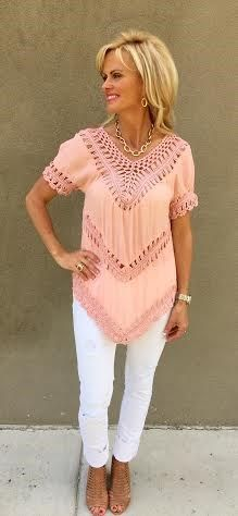 Boho Chic Crochet Tunic in 5 Colors | Jane