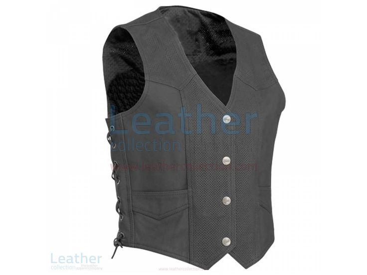 Perforated Motorcycle Leather Vest  https://www.leathercollection.com/en-we/perforated-motorcycle-leather-vest.html  #Perforated_Leather_Vest, #Perforated_Motorcycle_Leather_Vest, #Perforated_Motorcycle_Vest
