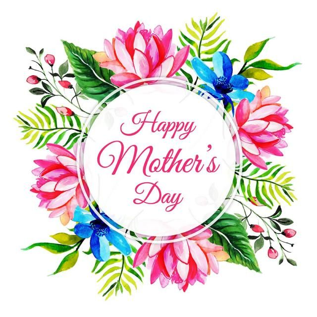 Watercolor Happy Mother S Day Floral Frame Background Floral Vector Happy Mothers039 Day Png And Vector With Transparent Background For Free Download Happy Birthday Frame Happy Mothers Day Happy Mom Day