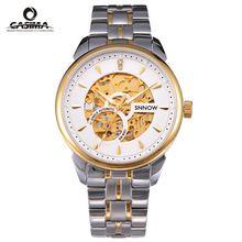 Luxury brand watches men SNNOW series Automatic mechanical Business dress Gold skeleton wrist Watch waterproof 100m CASIMA#8806(China (Mainland))