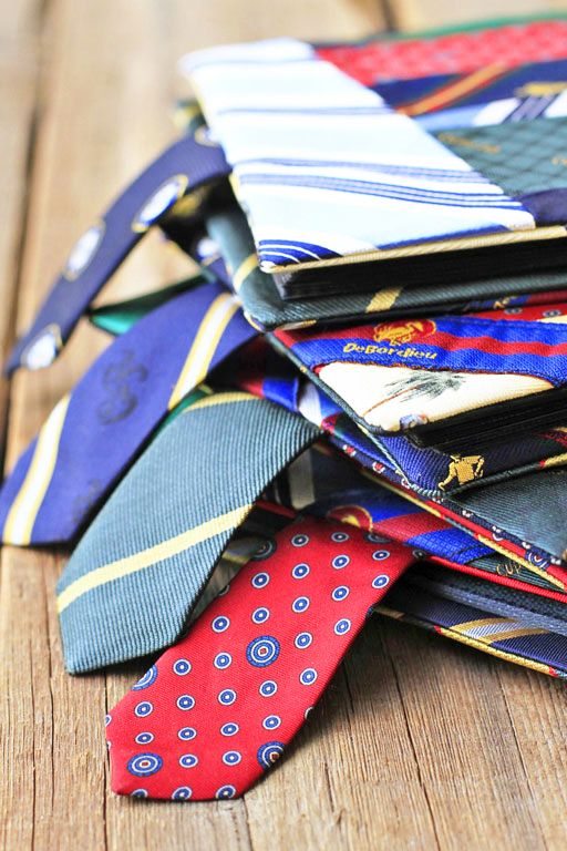 How to recycle old ties. Awesome idea to repurpose some of my dad's stuff. I LOVE this!