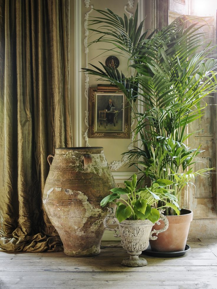 An interest corner using pots like this and big plants wow we are coming at it now Kim lol, I have seen similar at salvage yards cleaned up could look ace. Don't be afraid to use big things in a small space as it give the illusion of a bigger room. Xx