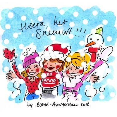 Hoera het sneeuwt! -Blond Amsterdam