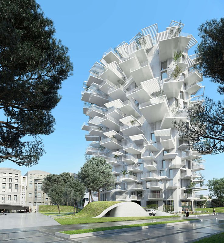 "Set to dominate Montpellier, France's skyline, Japanese architect Sou Fujimoto's latest design has been aptly dubbed the ""White Tree"" (or ""Arbre Blanc"" in French). The 17-story mixed-use building will feature residential, commercial and office space as well as an art gallery."