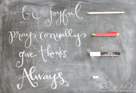 Chalk art is everywhere.  And it's lovely.  But have you ever tried to write and couldn't get your lettering to look crisp.  Here are a few options for writing with chalk via jonesdesigncompany.com
