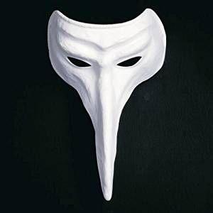 Kostüm selber machen Weiße Schnabelmaske | Kostüm-Idee zu Karneval, Halloween & Fasching