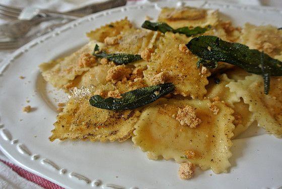 Ravioli di Zucca, Cannella and Amaretti (Pumpkin, Cinnamon and Amaretti Ravioli)
