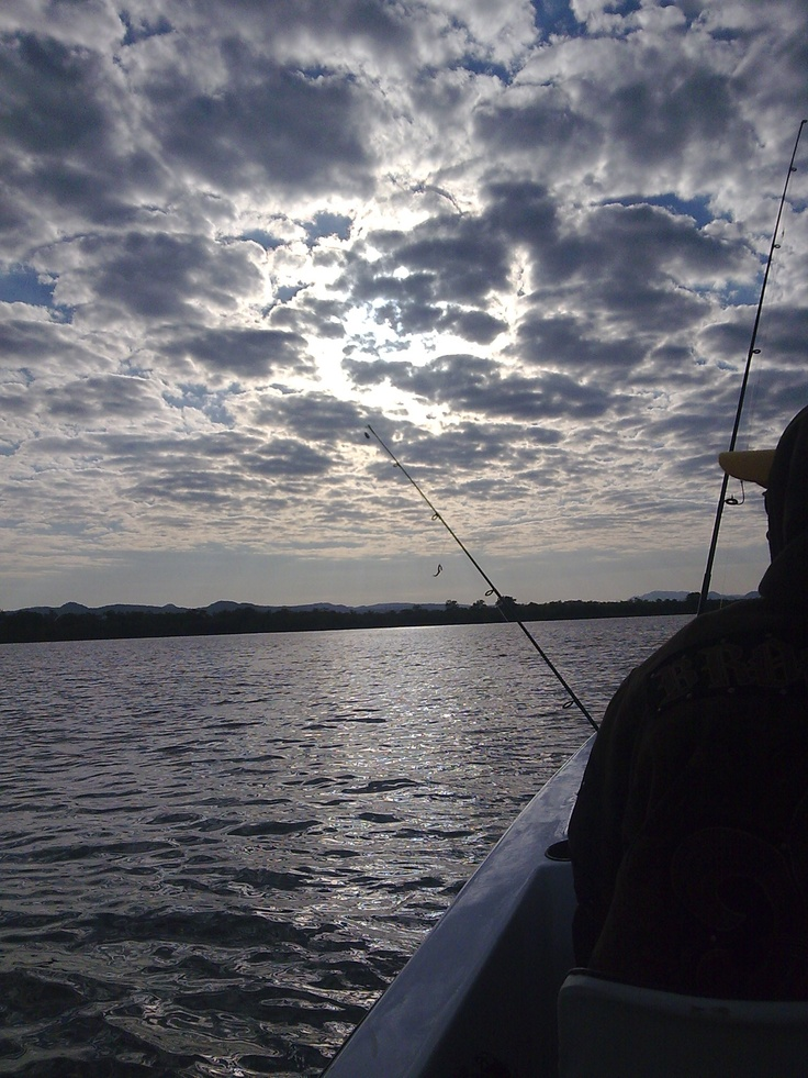 Taken on Lake Kariba, Zimbabwe. Early morning fishing!