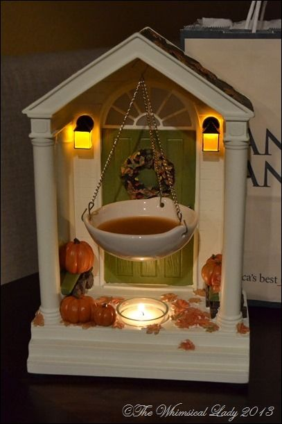 Yankee Candle Tart Warmer for Fall. This is incredible. Hubby got me one and won't tell me from where. Would love to give one as a gift.