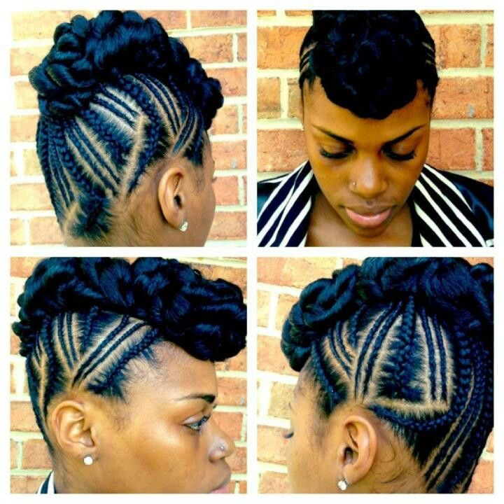 Braided Mohawk Hairstyles braided mohawk this hairstyle Natural Mohawk Styles