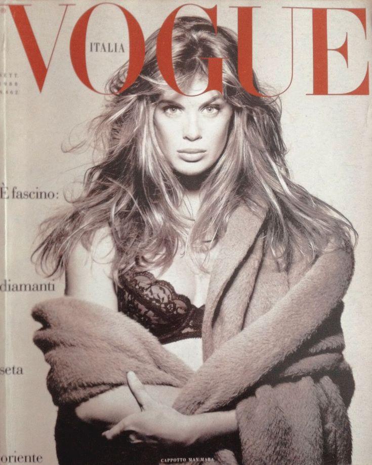 Rachel Hunter, photo by Steven Meisel, Vogue Italia, September 1988*